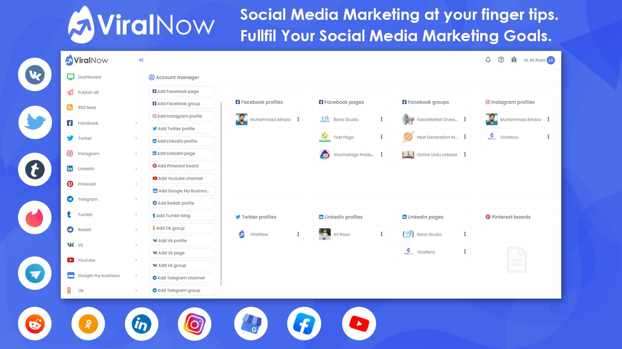 ViralNow Social Media Scheduling, Marketing, Analytics & Automation Tool
